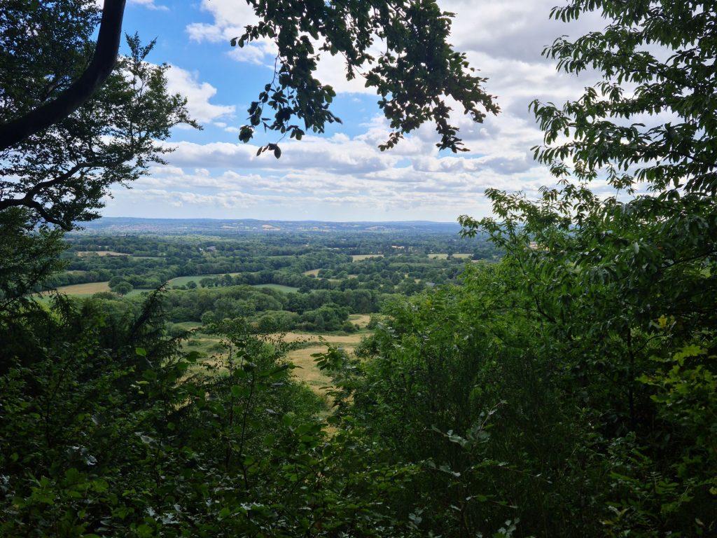 View across Kent downs