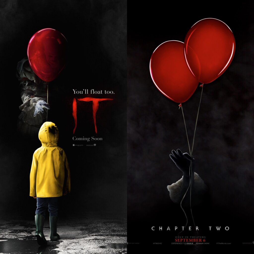 IT and IT Chapter 2 movie poster