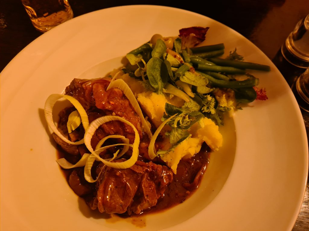 Slow cooked Welsh lamb meal at The Golden Fox