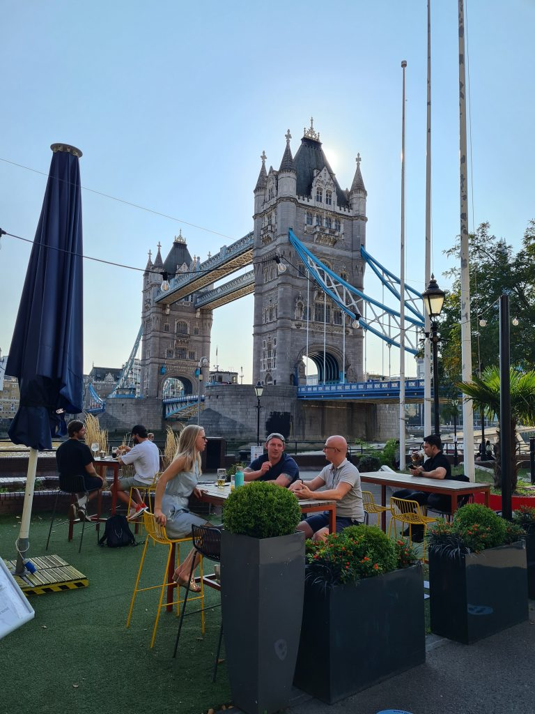 View of Tower Bridge from Vicinity Bar and Restaurant