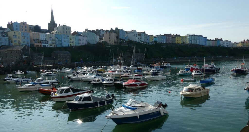 Small boats in Tenby Harbour