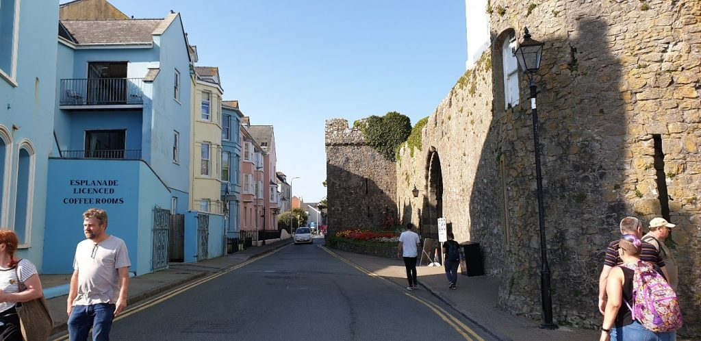 13th Century walls in Tenby