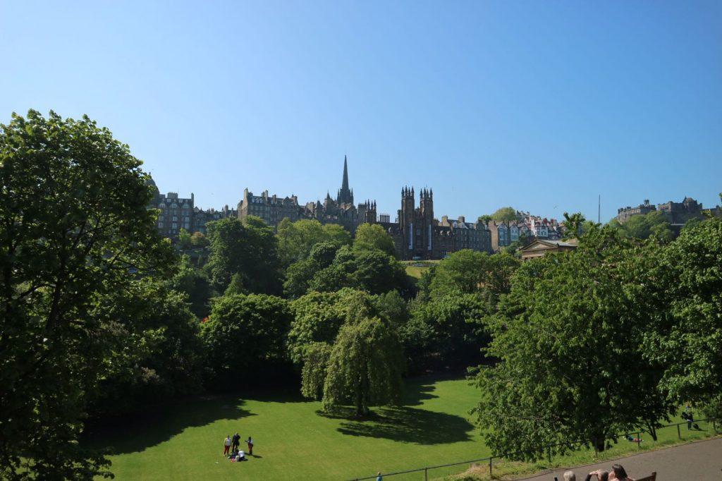 View towards Royal Mile in Edinburgh