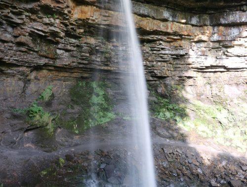 Large, single drop waterfall
