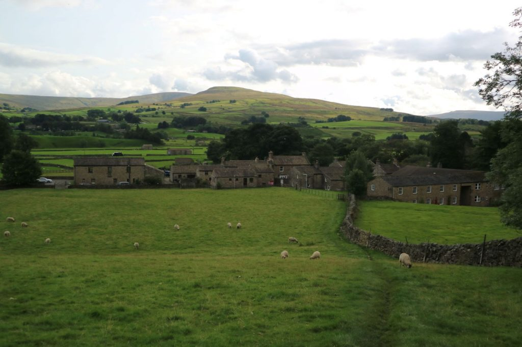 View of Pennine Way while hiking to Hardraw Force