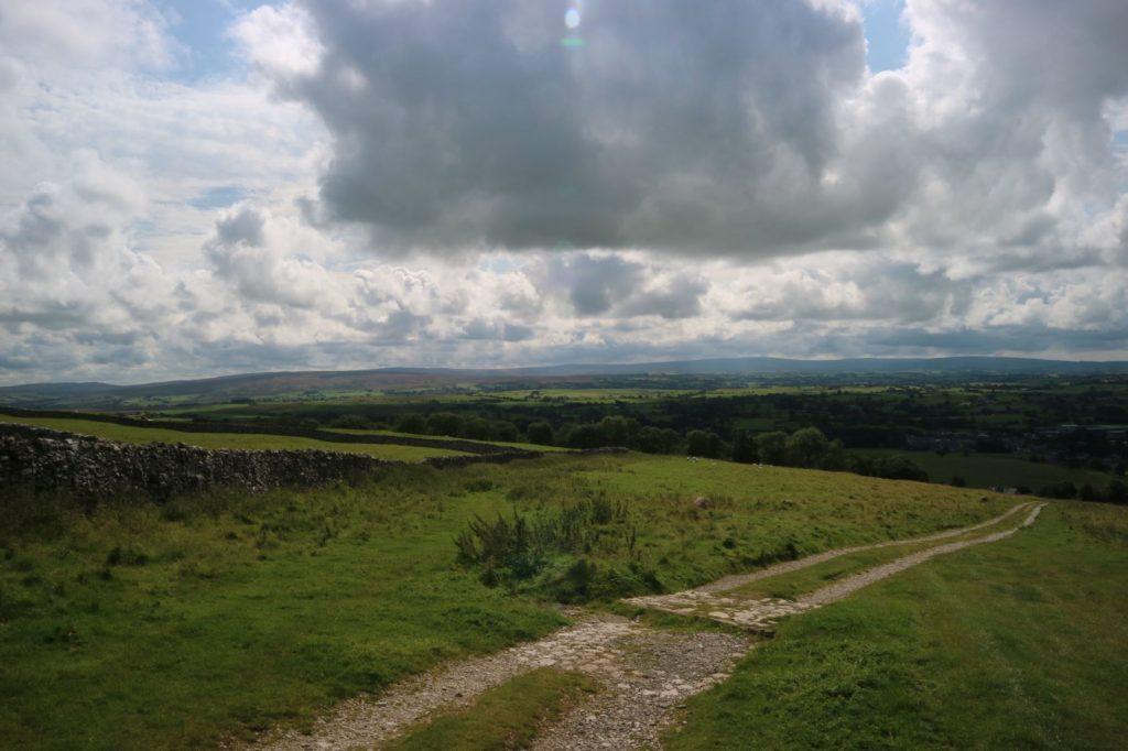 Path from Ingleton to Ingleborough, looking towards the town