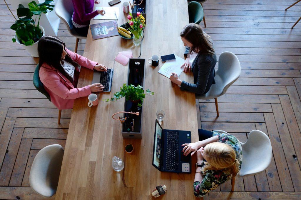 millennial women in office space