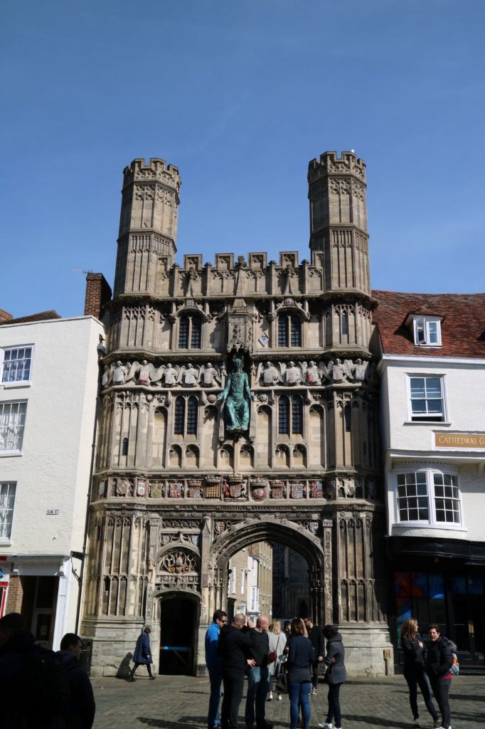 Entrance to grounds of Canterbury Cathedral