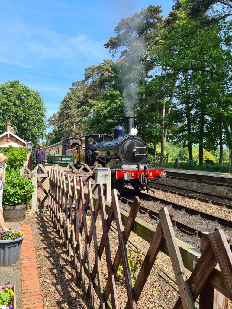 Steam train at Holt Station