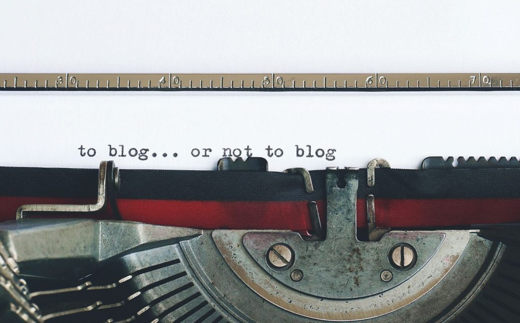 to blog...or not to blog on the paper of a typewriter