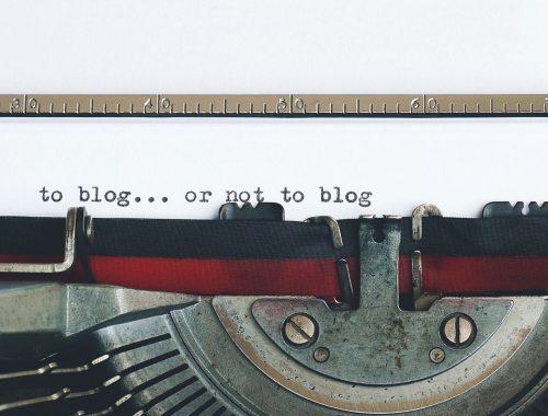 To blog or not to blog typed onto a typewriter