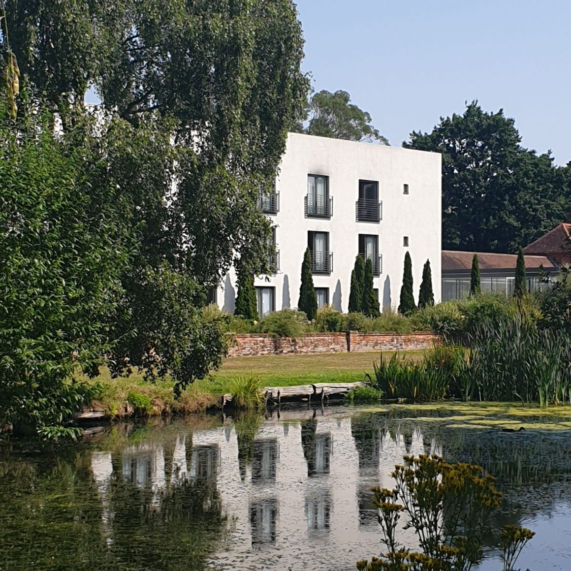 White square accommodation building at Lifehouse Spa and Hotel