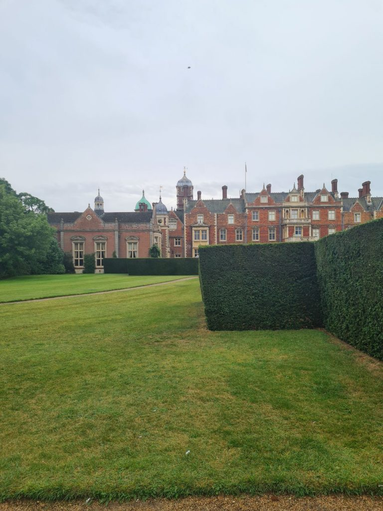 View of Sandringham House from the gardens